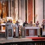 The concelebrants sing the Eucharistic Prayer