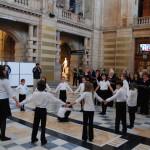 Choral round dance in Kelvingrove Gallery 18 03 2012