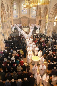 A crowded cathedral for the Chrism Mass
