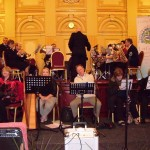 The musicians clearly enjoyed the service