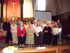 Members of East End Deanery Choir after the service