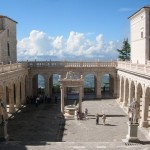 The spectacular view from the cloisters of Monte Cassino
