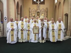 Mgr. Sheridan with the concelebrants and his Papal Blessing