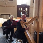 Dr. Noel Donnelly with organist Jane McKenna