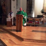 Fr. David proclaims the Gospel