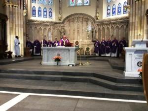 Archbishop Tartaglia and the concelebrants