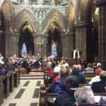 The Cathedral Strings welcome the congregation