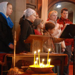 Singing at a Russian service in Govan Old Parish Church 3