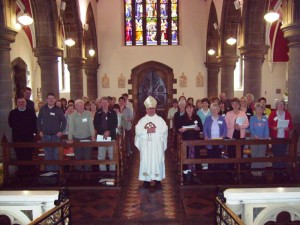 Bishop Toal with participants