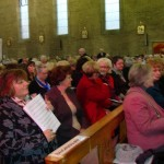 some of the congregation at the Arts Mass