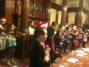 The young musicians of the Southside Fiddlers