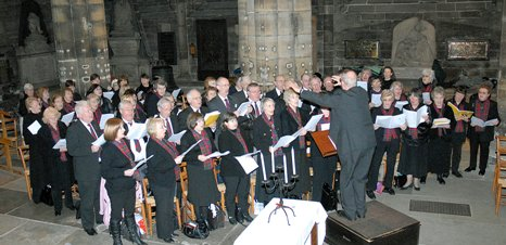 Some of the St Mungo Singers at the St Mungo Day Service in Glasgow Cathedral