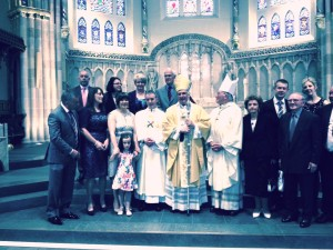 Deacon Joseph with family after his Ordination