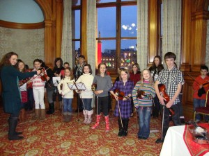 A great group of young musicians who brought us Christmas cheer